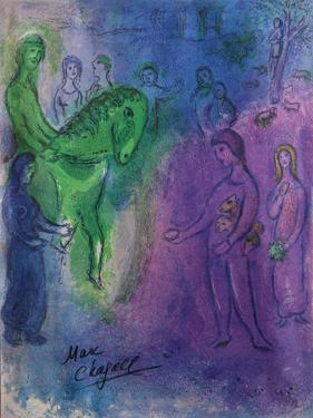 Arrival of Dionysophanes by Marc Chagall