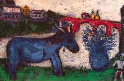 Blue Donkey by Marc Chagall