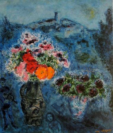 Bunch of Violets by Marc Chagall
