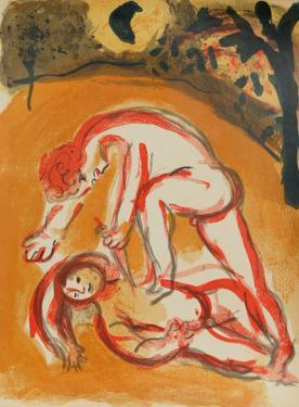 "Cain and Abel from ""Drawings for the Bible"" by Marc Chagall"