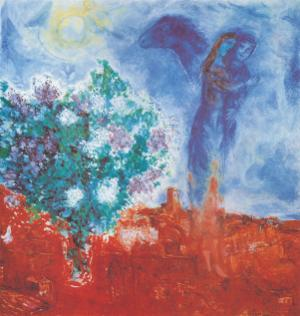 Die Liebenden Uber St Paul, c.1971 by Marc Chagall