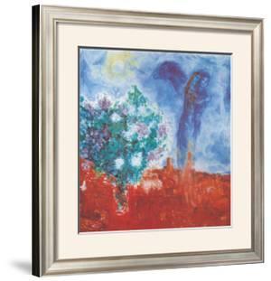Die Liebenden Uber St Paul, c.1971 by Marc Chagall