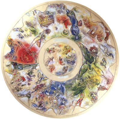 Final Study for the Ceiling of the Opera Garnier by Marc Chagall