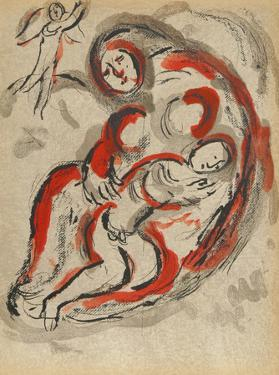"Hagar in the Desert from ""Drawings for the Bible"" by Marc Chagall"