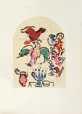 Jerusalem Windows : Asher (Sketch) by Marc Chagall