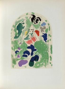 Jerusalem Windows : Issachar (Sketch) by Marc Chagall