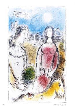 Le Couple au Crepuscule by Marc Chagall