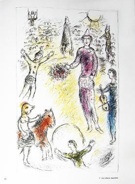 Les Clowns Musiciens by Marc Chagall