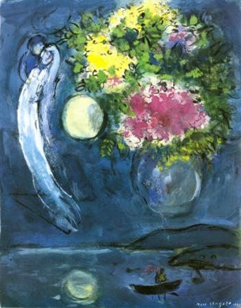 Lovers with Bouquet, c.1949 by Marc Chagall