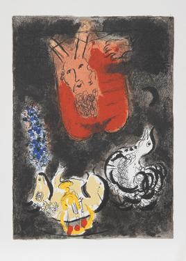 Moses receives the Ten Commandments, 1966 by Marc Chagall