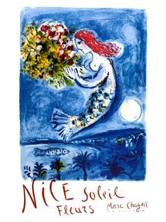 Nice Sun Flowers by Marc Chagall