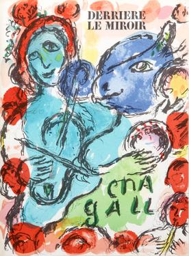 Pantomime from Derrier Le Mirroir 198 by Marc Chagall