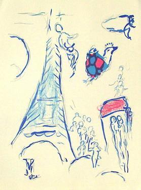 Plafond de l'Opéra: Lange de Mozart by Marc Chagall
