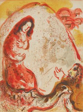"Rachel steals her Father's graven images from ""Drawings for the Bible"" by Marc Chagall"