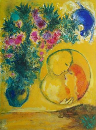 Sun and Mimosas by Marc Chagall