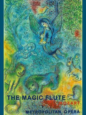 The Magic Flute - Mozart - Metropolitan Opera by Marc Chagall