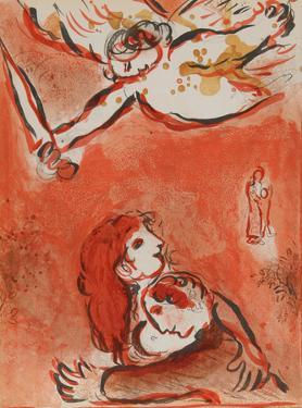 "The Maid of Israel from ""Drawings for the Bible"" by Marc Chagall"