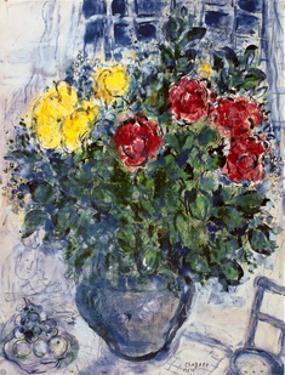 Vase De Fleurs by Marc Chagall