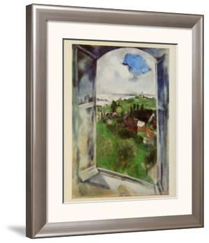 Window with View on the Island Bréhat, c.1924 by Marc Chagall
