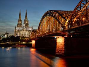 Cologne Cathedral, Dusk, Illuminated by Marc Gilsdorf