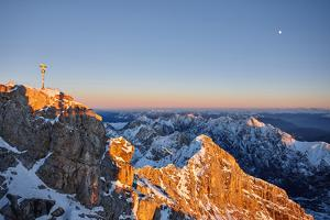 Mountain Panorama Zugspitze Summit by Marc Gilsdorf