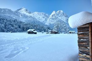 Wetterstein Massif with Zugspitze, Winter Scenery by Marc Gilsdorf