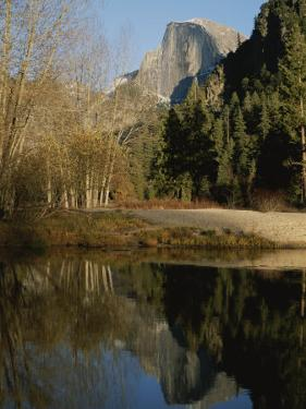 Autumn View of the Park with Half Dome in the Background by Marc Moritsch