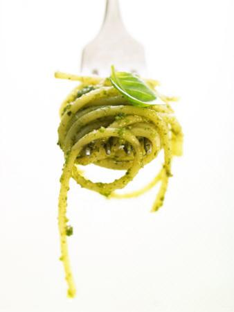 A Forkful of Spaghetti with Pesto by Marc O. Finley