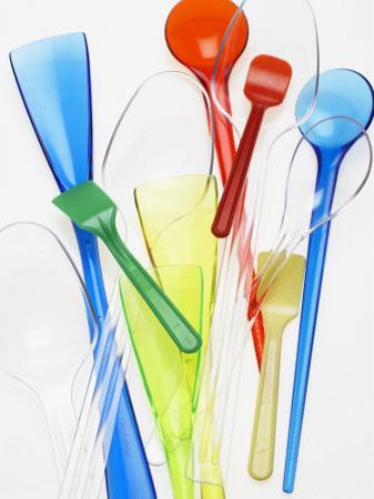 A Selection of Plastic Ice Cream Spoons by Marc O. Finley