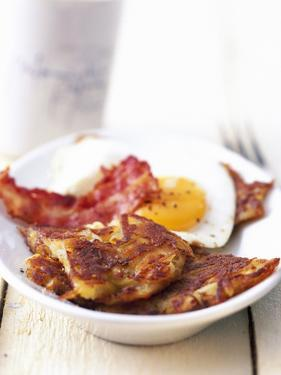 Potato Pancake with Fried Egg and Bacon by Marc O. Finley