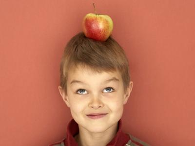 Small Boy with Apple on His Head by Marc O. Finley