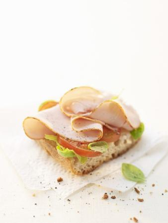 Smoked Chicken Breast on Baguette by Marc O. Finley
