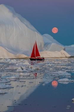 Greenland night by Marc Pelissier