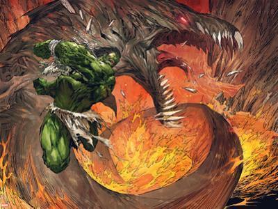 Incredible Hulk No.1: Hulk Fighting a Fiery Dragon by Marc Silvestri