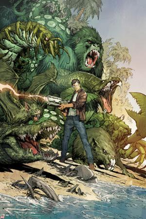 Incredible Hulk No.3: Bruce Banner Shooting, Surrounded by Giant Green Animals by Marc Silvestri