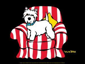 Westie in Chair by Marc Tetro