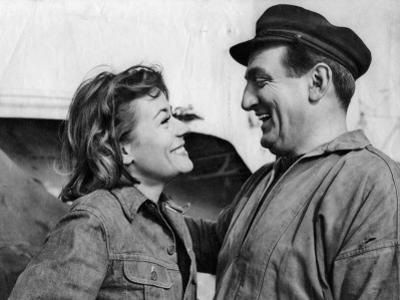 Annie Girardot and Lino Ventura: Le Bateau D'Emile, 1962 by Marcel Dole