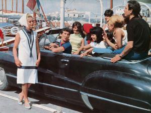Geneviève Grad, Daniel Cauchy and Patrice Laffont: Le Gendarme de Saint-Tropez, 1964 by Marcel Dole