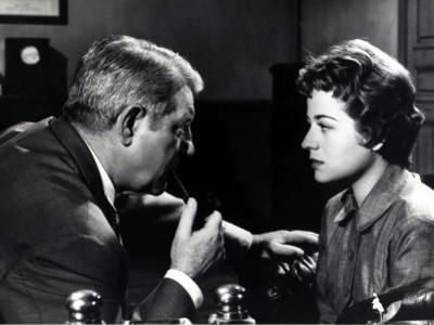 Jean Gabin and Annie Girardot: Maigret Tend Un Piège, 1958 by Marcel Dole