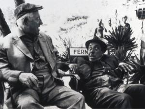 Jean Gabin and Fernandelshooting Picture: L'Âge Ingrat, 1964 by Marcel Dole