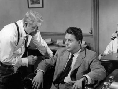 Jean Gabin and Jean Desailly: Maigret Tend Un Piège, 1958 by Marcel Dole