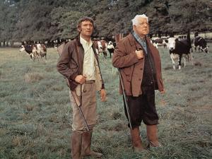 Jean Gabin and Michel Barbey: La Horse, 1970 by Marcel Dole