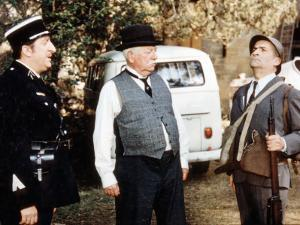 Jean Gabin, Louis de Funès and Pierre Tornade: Le Tatoué, 1968 by Marcel Dole