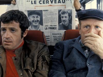 Jean-Paul Belmondo and Bourvil: Le Cerveau, 1969 by Marcel Dole