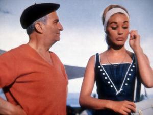 Louis de Funès and Geneviève Grad: Le Gendarme de Saint-Tropez, 1964 by Marcel Dole