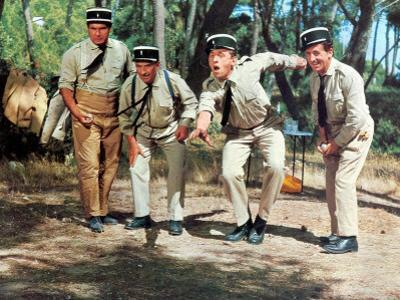 Louis de Funès, Michel Galabru, Jean Lefevre and Christian Marin: Le Gendarme de Saint-Tropez, 1964 by Marcel Dole