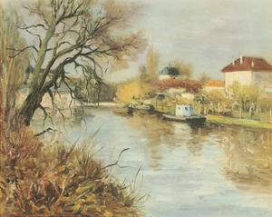 By The Towpath by Marcel Dyf