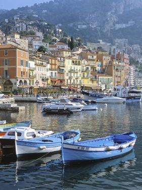 Cote D'Azur, Villefranche-Sur-Mer, View on Town and Port by Marcel Malherbe