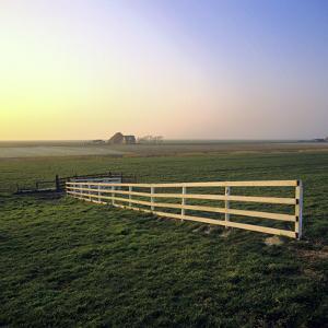 Friesland, Fence in a Field Near Workum by Marcel Malherbe
