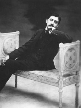Marcel Proust, French Writer in 1900 Near Age 30